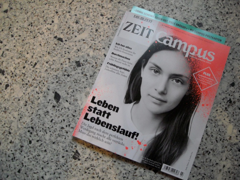 Cover ZEIT CAMPUS 3/13 (photo by Oskar Piegsa)