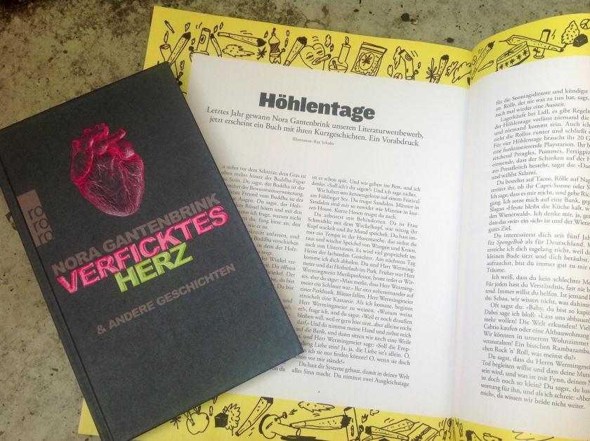 Ein Vorabdruck aus Nora Gantenbrinks Kurzgeschichtensammlung Verficktes Herz erscheint in ZEIT CAMPUS 5/2013
