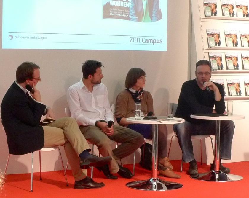 """Die Diskussion """"Geisteswissenschaftler und das Netz: Chancen für Berufseinsteiger"""" (c) ZEIT CAMPUS"""