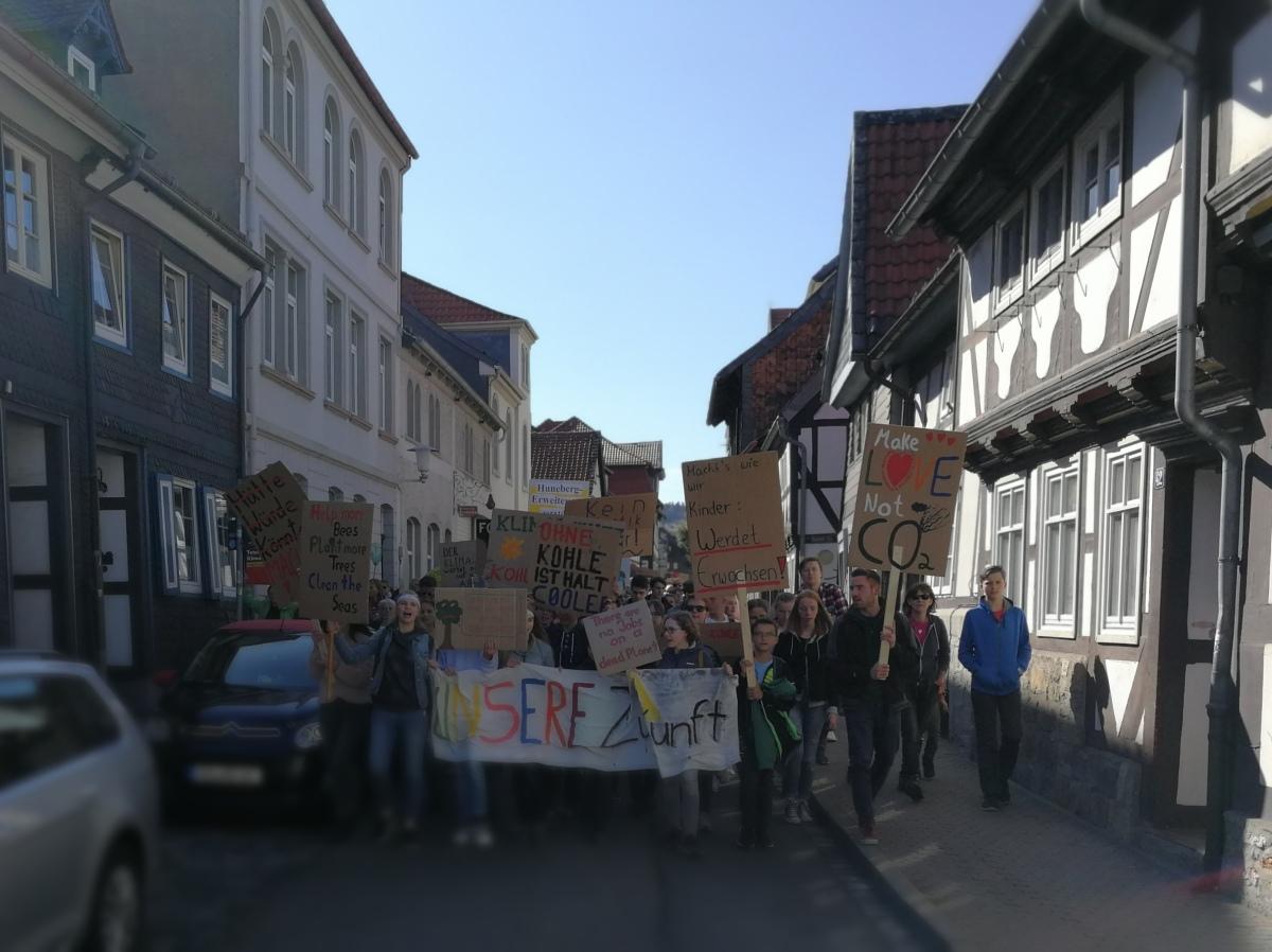 Klimastreik in der kleinenStadt